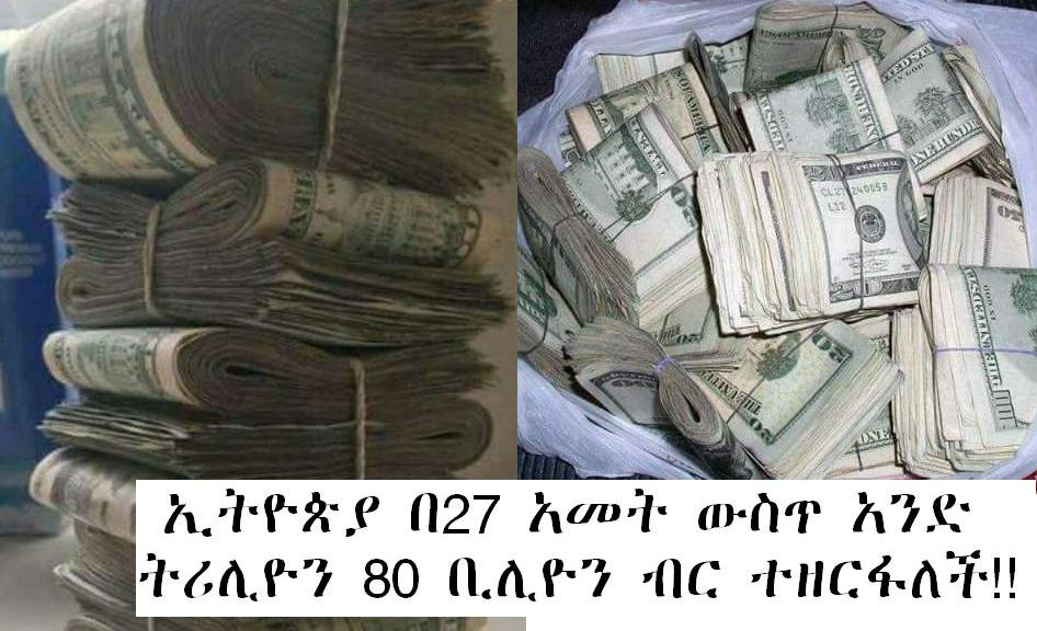 Ethiopia has spared about $ 36 billion or about 80 billion birr in the last 27 years.