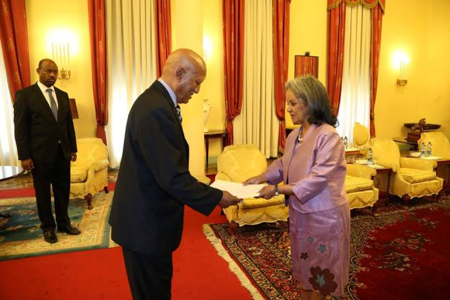President Sahle-Work Receives Credentials Of Eritrean Ambassador To Ethiopia