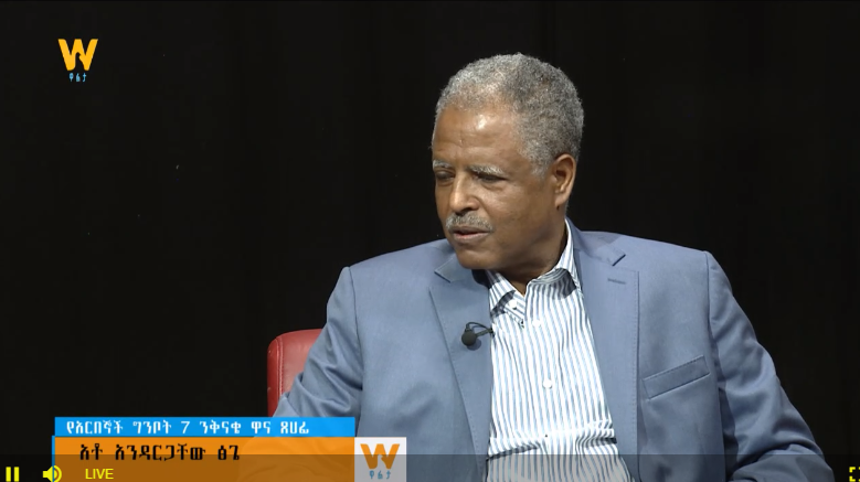 Andargachew Tsige Amazing interivew with Walta Tv