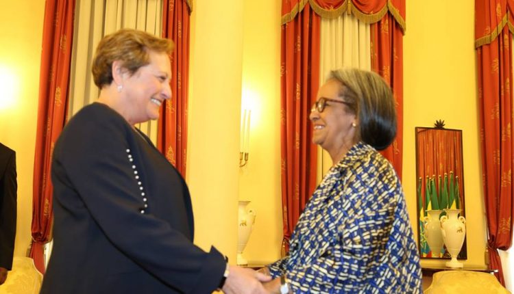 President Sahle-Work Receives Outgoing British Ambassador To Ethiopia