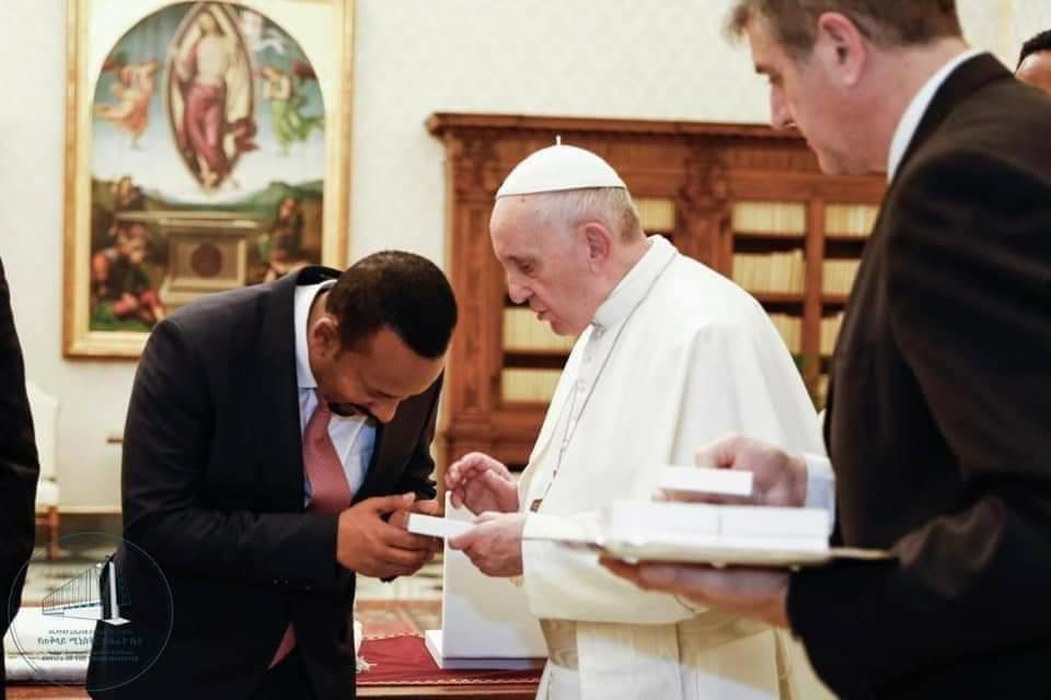 Prime Minister Abiy Ahmed in Italy for a working visit