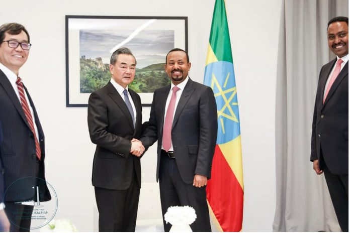 PM Abiy, China's Foreign Minister Wang Discuss Ethio-China Relations
