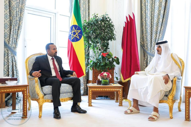 PM Abiy, Emir of Qatar Discussed bilateral Issues
